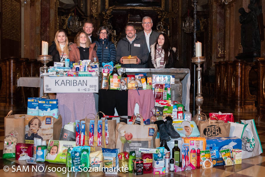 Spendenübergabe an den soogut-Sozialmarkt in St. Pölten vom BIGS St. Pölten