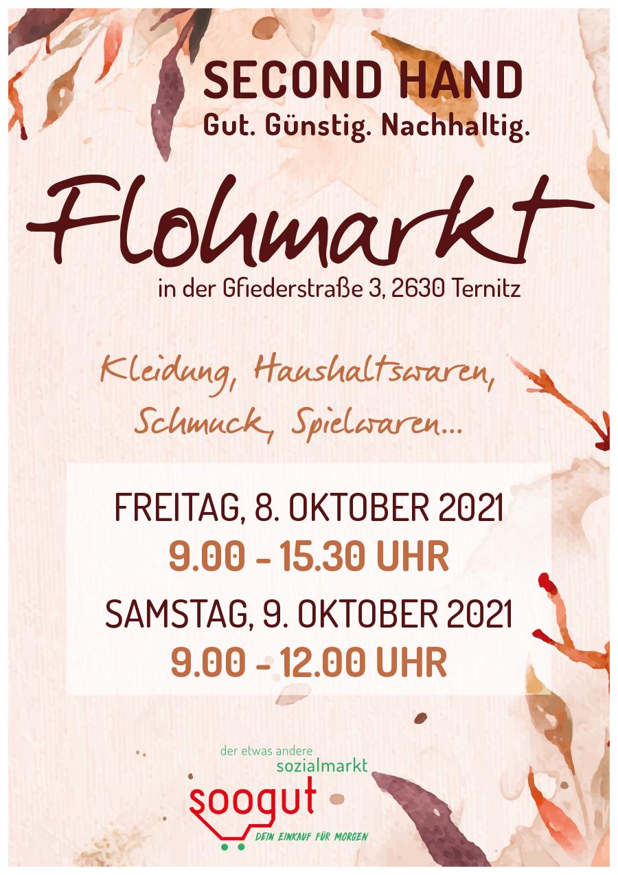 Flohmarkt im soogut-Sozialmarkt in Ternitz am Freitag 8.Oktober und Samstag 9.Oktober 2021