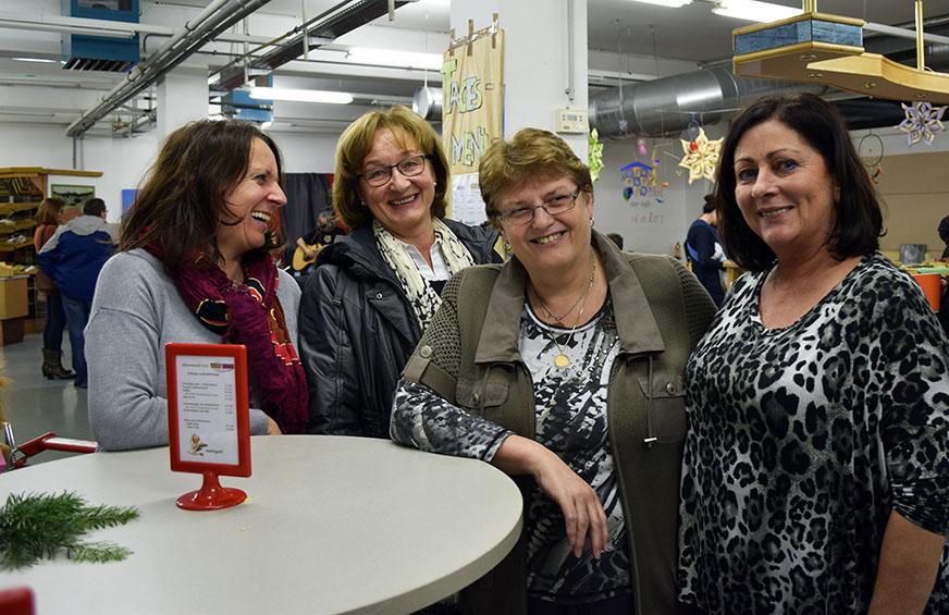 v.l.n.r.: Hanni, Freundin, Traudi und Inge