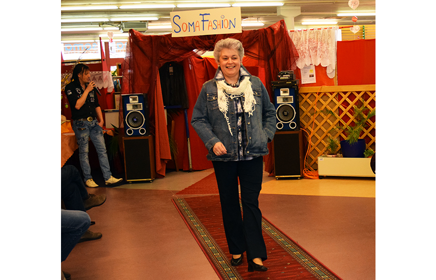 Barbara in Freizeitkleidung