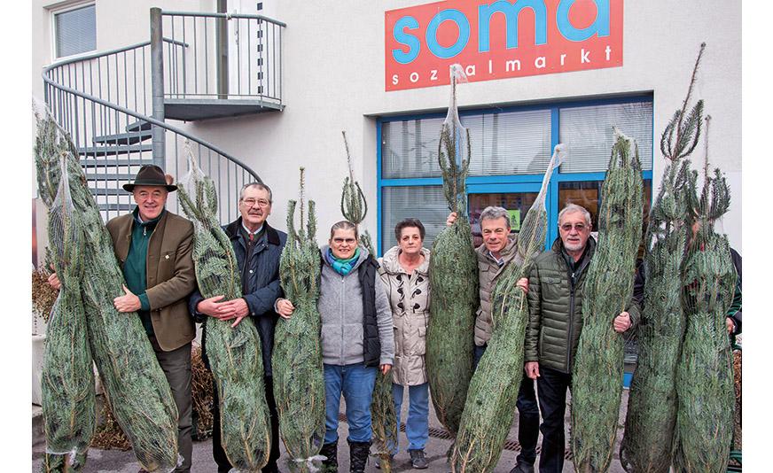 Bild: STR Leo Lindebner, Vizebürgermeister Ferdinand Rubel, Claudia Rosner, Christl Felbert, GR Klaus Percig und GR a.D. Günther Brückler