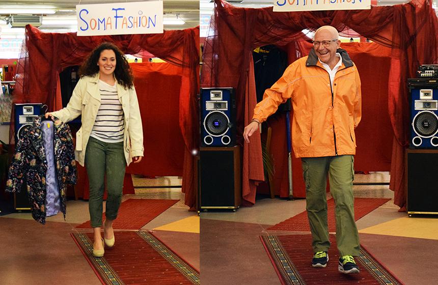 Sandra und Erwin am Laufsteg