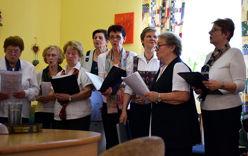 Singgruppe Harmonie singt und spielt