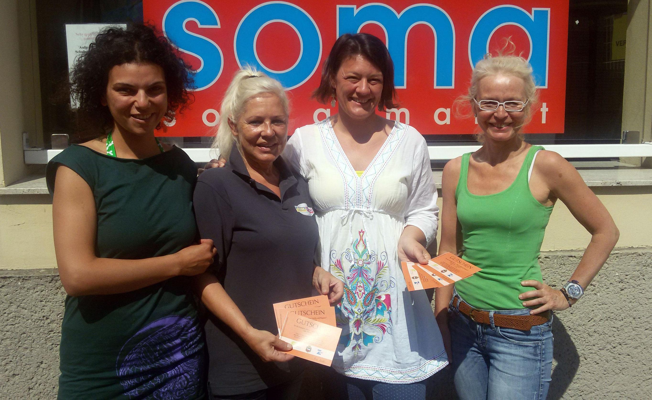 Radha Komath-Petters, Manuela Pacult, Sandra Renner, Alexandra Schneider