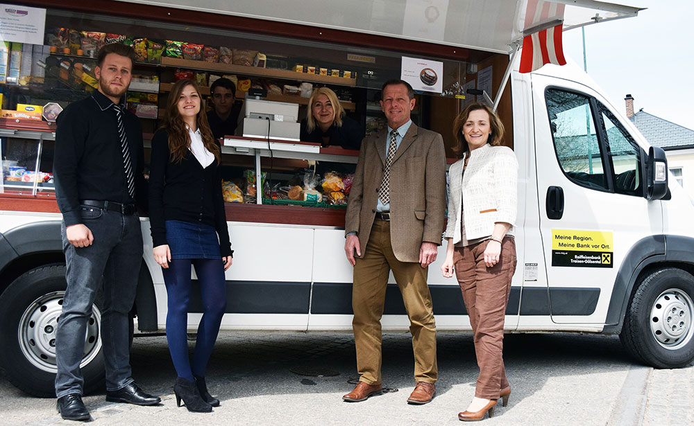 (c) SAM NÖ Raiffeisenbank Traisen-Gölsental sponsert SOMA Mostviertel mobil