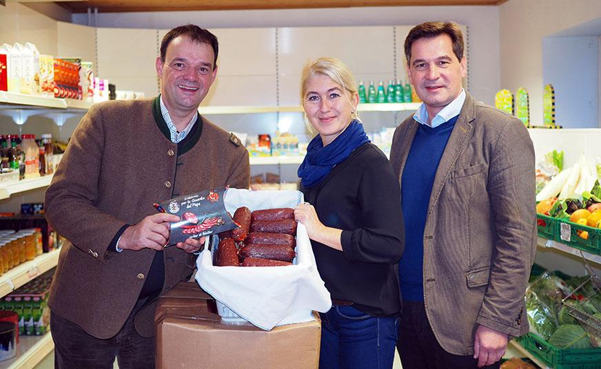 v.l.n.r.: Michael Schmidkunz, Anneliese Förr, Bgm. Werner Krammer