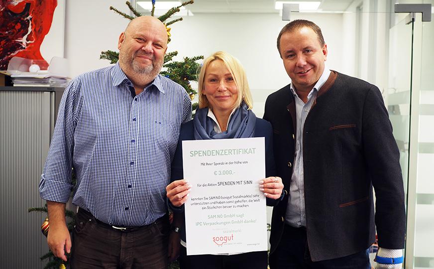 v.l.n.r.: Harald Walloch, Renata Lomoz, GF Helmuth Lomoz