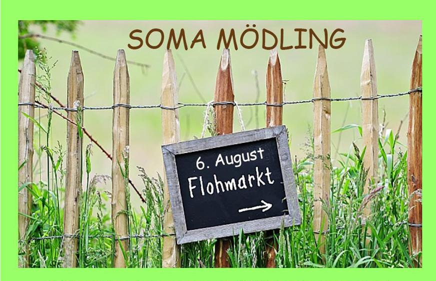 Wegweiser SOMA Flohmarkt am 6. August