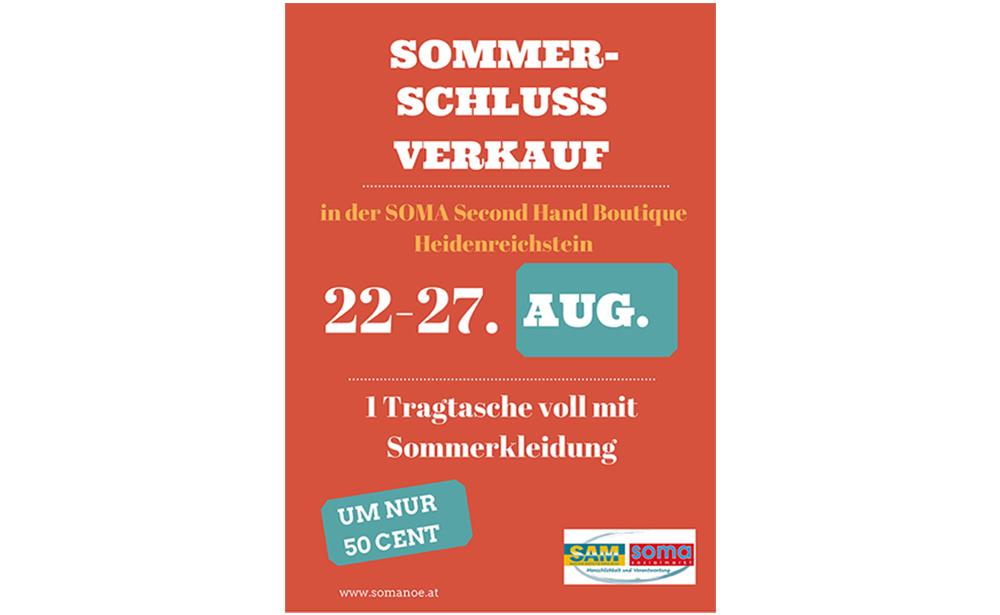Sommerschlussverkauf in der Verkaufsstelle Heidenreichstein