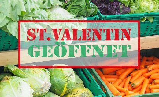 soogut-Verkaufsstelle in St. Valentin ist wieder geöffnet