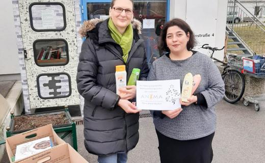 Hygieneprodukte für den soogut-Mödling von den Frauen der ANIMA-Runde