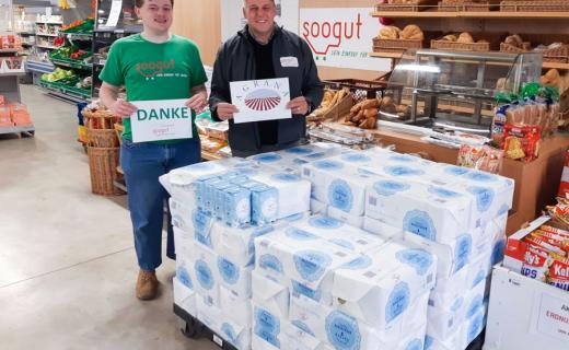 soogut-Tulln Marktleiter Gerwald Herz mit Lehrling Nico Samer