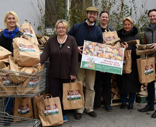 Brennholz für die SOMA KundInnen - gespendet von der Forst- und Gutsverwaltung Fridau in Ober-Grafendorf