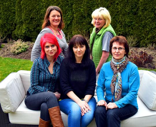 WV Team: Niki Lamprecht, Sandra Renner, Marion Pichler, Brigitte Androsch, Helga Samm