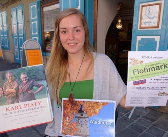 Ute Michelle Fila veranstaltet Flohmarkt für SAM NÖ