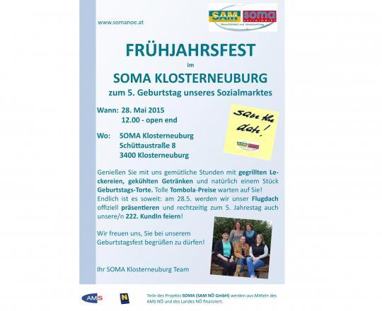 Einladung zum Klosterneuburger Frühjahrsfest