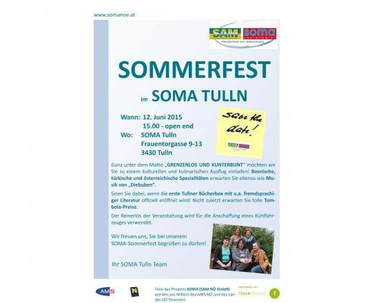 Einladung Tullner SOMA Sommerfest