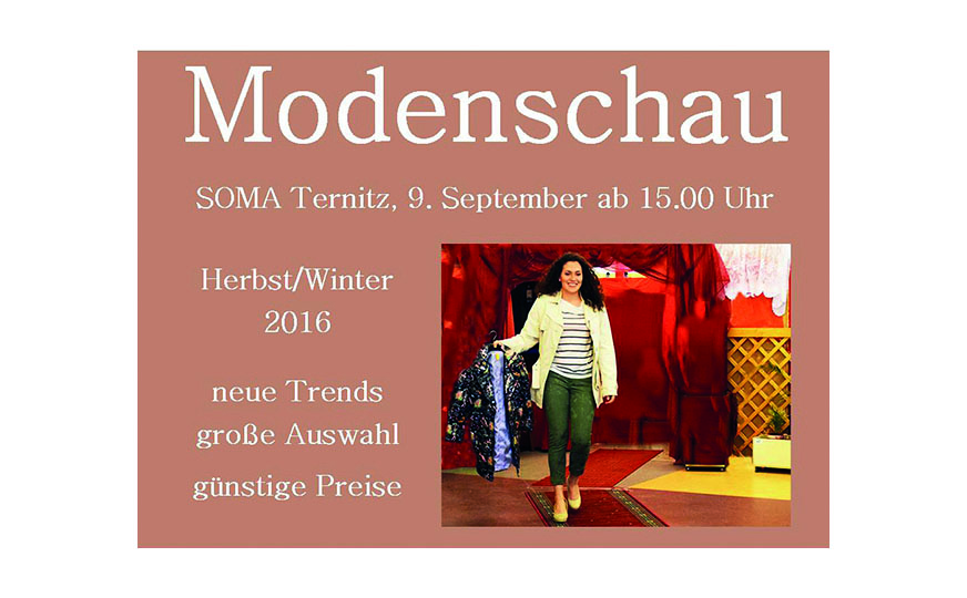 Plakat Ankündigung Modenschau Ternitz